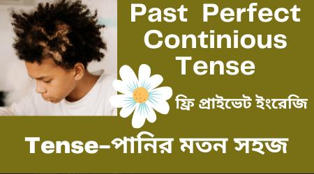 Past Perfect Continuous Tense bangla
